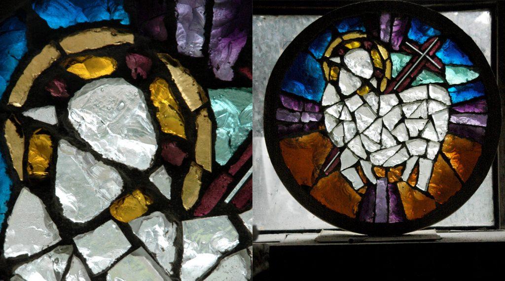 Communauté religieuse de l'agneau - Vitrail figuratif en dalle de verre | Matthieu Gasc