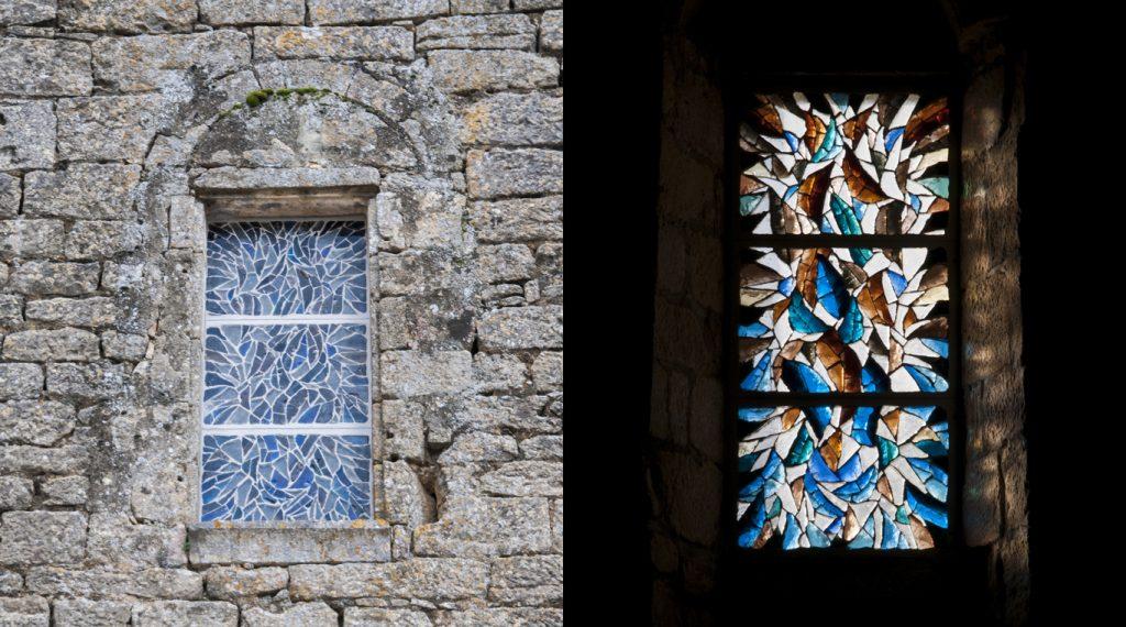 Vitrail en dalle de verre - Église romane Saint Pierre-es-Liens à Paulin en Dordogne | Matthieu Gasc